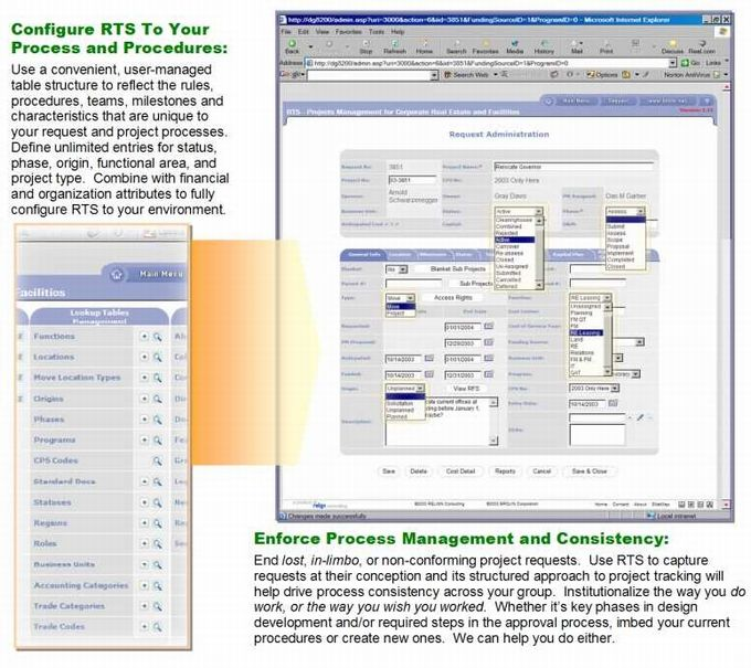 RTS - Facility Mangement - Portfolio Process Management