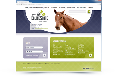 My Equine Online Website