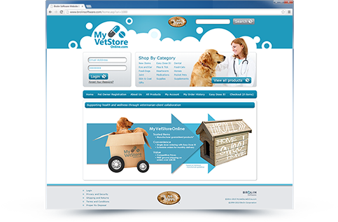 My VetStore Online Website