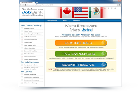 North American Job Bank Website